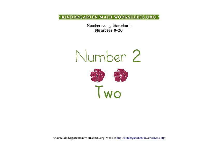 Kindergarten Math Number Recognition Number 2