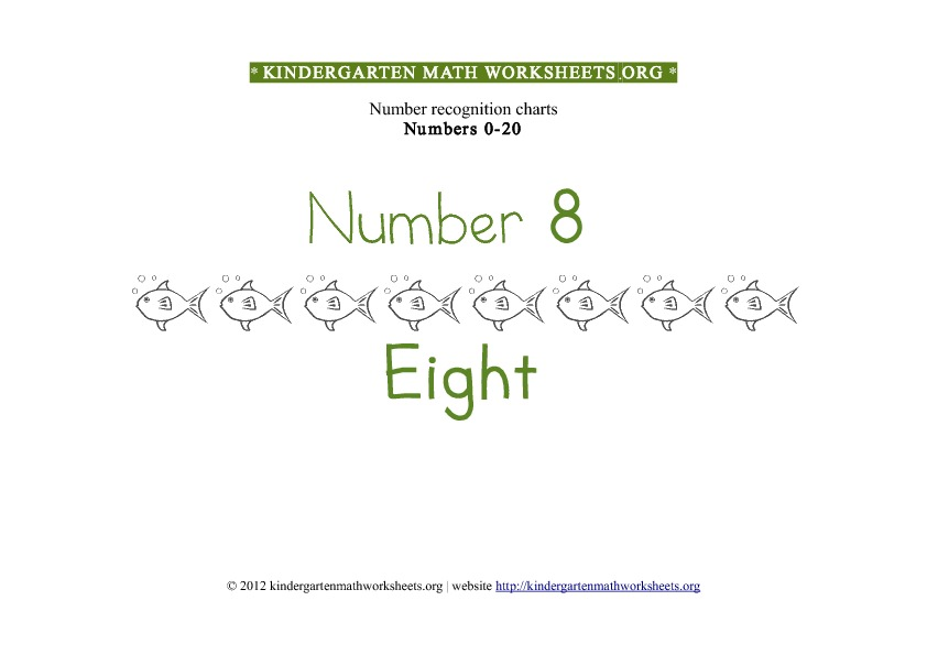 Kindergarten Math Number Recognition Number 8