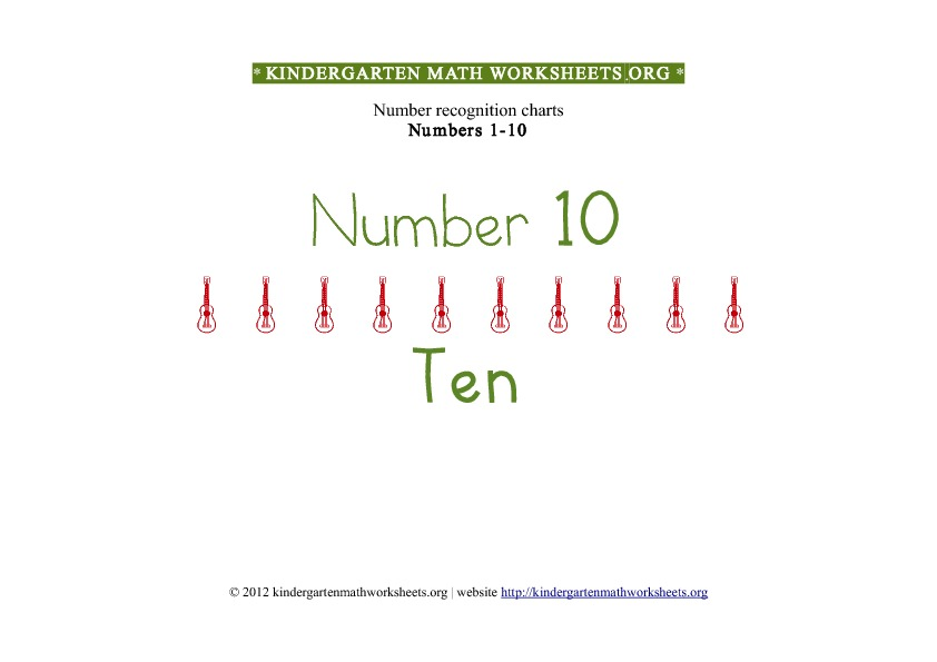 Kindergarten Math Numbers 1-10 Number 10