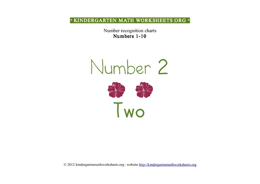 Kindergarten Math Numbers 1-10 Number 2