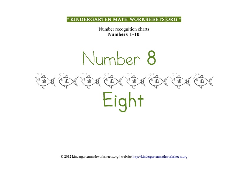 Kindergarten Math Numbers 1-10 Number 8