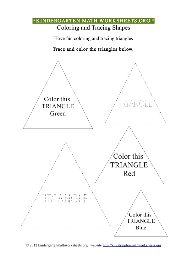 Kindergarten Shapes Triangles Worksheet | Kindergarten Math ...